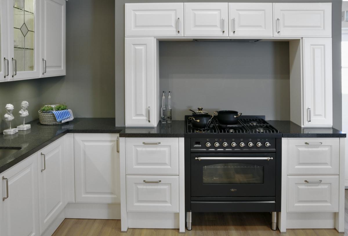 Showroom keukens Häcker Breda magnolia landelijke keuken