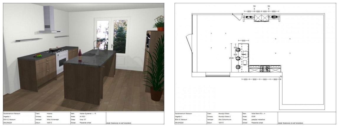 Unieke 3d ontwerpen for 3d ontwerp keuken