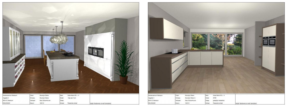 Unieke 3d ontwerpen for Keuken 3d ontwerpen