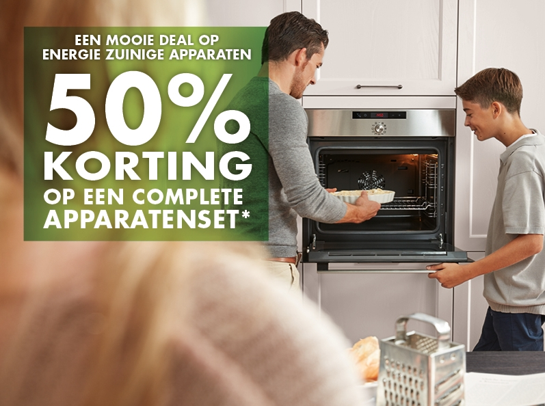50% Korting op complete apparatenset
