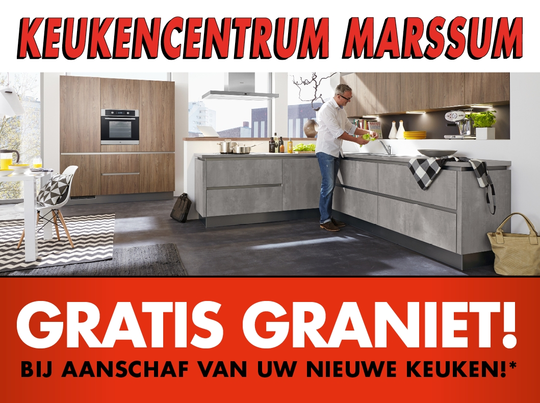 Gratis graniet advertentie
